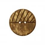 Naturaalne ümar kookosnööp, reljeefse mustriga, kahe auguga 28mm, 44L