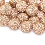 Savimaterjalist klaaskristallidega pärl/vahedetail, ühelt poolt auguga 12mm