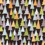 Kuused lumesajus, puuvillane kangas, sarjast Lewis & Irene, 110cm, C30