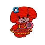 Triigitav Aplikatsioon; Koeratüdruk / Embroidered Iron-On Patch; Doggy/ 7,5x7cm