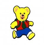 Soft 3D Sticker; Teddy Bear Student Running / 8 x 5,5cm