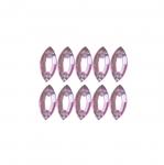 Lehekujulised dekoratiivkristallid 9x5mm 10tk