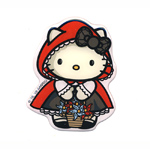 3D Sticker; Hello Kitty Little Red Riding Hood / 8,5 x 7cm