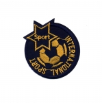 Embroidered Iron-On Patch; Football, `International Sport` / 6,5cm