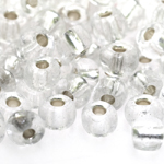 Czech Rocaille silverline beads, Seed Beads, No.0 (8-8,5 mm), Preciosa