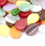 Pärlisegu erivärvilistest erikujulistest pärlitest 8-20mm, 100/50g pakk