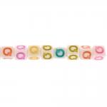 `Q` tähemärkidega, kuubikukujulised plastikhelmed 7mm