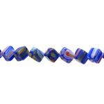 Kirjud mustrilised kuubiku kujuga millefiori pärlid 7,5mm