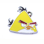 Metal `Angry Birds` Charm / 25 x 24mm