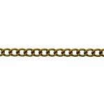 Decorative metal chain (iron) 7,5 x 5,5 x 1,3 mm