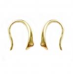 Kõverad, laia osaga, kinnitusauguga kõrvarõnga toorikud / Earwire modern/ 14x10mm