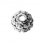 Kellukakujuline, reljeefse mustriga pärlikübar / Bead Cup / 11x7mm