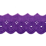 Broderiipits tiheda tikandiga laius 50mm Nr.8/Cotton Lace/Broderie Anglaise
