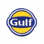 Triigitav Aplikatsioon; Ralliteemaline aplikatsioon `Gulf`/ Embroidered Iron-On Patch;/ 7x6cm