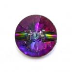 Ümar kristallilaadne akrüülnööp 25mm, 40L