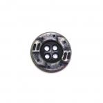 Metallist, nelja auguga nööp 15mm, 24L