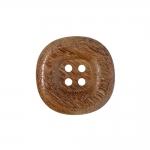 Kandilise vormiga, nelja auguga puitnööp, 26mm, 42L