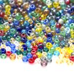 Erivärviliste terahelmeste segu suuruses 3-3,8mm, Preciosa