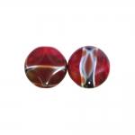 Ümar, lapik, tahuline 16x16x8mm klaashelmes segatud värvidega