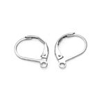 Earring Ear Wires, Lever Back; 2pc / 14 x 11mm