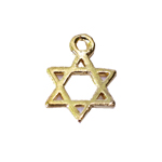 Metal Star of David Charm / 12mm
