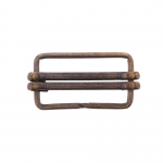 Metal triglide buckle, fashion buckle 42x24 mm for belt width 35 mm