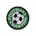 Triigitav Aplikatsioon; Jalgpall, `Football Champion` / Embroidered Iron-On Patch; Football, `Football Champion` / 7cm