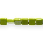 Ruudukujuline lapik pikuti keskelt auguga klaashelmes (Jablonex) 8x4mm