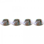 Oval-shaped glass beads, 21.5x13mm