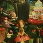 Muinasjutuline `Alice Imedemaal` trikookangas 2818