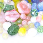 Pärlisegu erivärvilistest erikujulistest pärlitest 6-16mm, 100/50g pakk