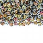 Lilleõiekujuline klaashelmes, metallilaadne (JPreciosa Ornela) 5x2mm