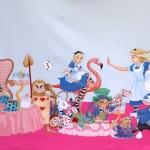 """Alice imedemaal"" temaatikaga, veniv puuvillasegu kangas, 11233 150cm, Stenzo textiles"