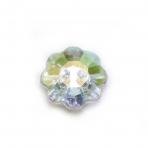Lillekujuline kristallilaadne akrüülnööp 15mm, 24L