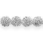Metallist klaaskristallidega pärl/vahedetail 10mm