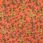 Lillemustriga dekoratiivkangas, puuvillane kangas, 112cm
