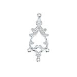 Antique Pattern Necklace Fastener / 32 x 15mm