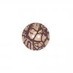 Naturaalne, reljeefse oksamustriga kahe auguga kookosnööp, 23mm, 36L