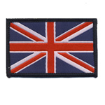 Embroidered Iron-On Patch; UK Flag / 6,5 x 4,1cm