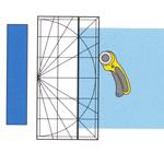 Läbipaistev plastjoonlaud, Clear View Plastic Ruler OLFA (Japan) MQR-15cm x 30cm