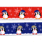 Jõulupael pingviinidega 201/A PG / Half cotton lace /laiusega 50mm