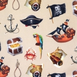 Piraaditeemaline, veniv puuvillasegu kangas 11240 150cm, Stenzo textiles