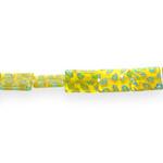 Kirjud mustrilised kandilised lapikud millefiori pärlid 10x12x4mm