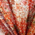 Pidulik, kauni läikega, kerge reljeefse lillemustriga kostüümikangas 619961; 138cm