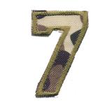 Triigitav Aplikatsioon; Sõjavärvides 7 / 6 x 4,5cm
