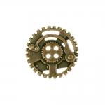 Metallist, hammasrattakujuline, nelja auguga nööp, 30mm/48L