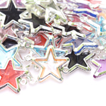 Silver Plastic Star Charm / 20 x 15mm