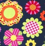 Puuvillane kangas, lillemustriga 124.280