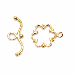 Toggle Clasp with Flower Design / 14 x 1mm