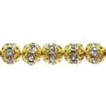 Metallist klaaskristallidega pärl/vahedetail 8mm